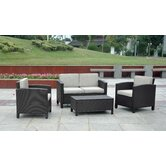 St. Marten 4 Piece Deep Seating Group with Cushions