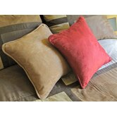 20&quot; Micro Suede Throw Pillow (Set of 2)