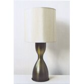 Lulu Table Lamp in Olive Fade with Pebble Shade