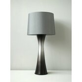 Skyscraper Table Lamp in Smoke with Platinum Shade