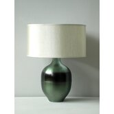 Rubianne Seagreen Horizon Table Lamp with Pebble Silk Shade