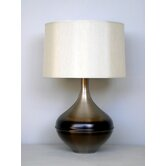 Kiss Table Lamp in Mocha Horizon with Pebble Shade