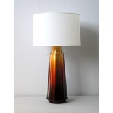 Tower Table Lamp in Rust Fade with Pebble Shade
