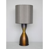 Lulu Table Lamp in Bronze Burst with Driftwood Shade