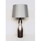 Keiko Table Lamp in Smoke with Platinum Shade
