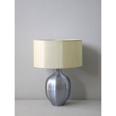 Rubianne Table Lamp in Ice Blue with Pebble Silk Shade