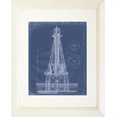 Lighthouse Ship Shoal Light Framed Painting Print
