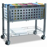 Smartworx File Cart with Open Top, 28-1/4 x 13-3/4 x 28-1/4, Gray