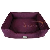 Dog Bed in Burgundy