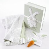 """Bunnies in the Garden"" Luxurious 3 Piece Blanket Gift Set"