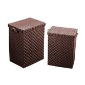 2 Piece Laundry Basket Set