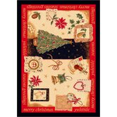 Winter Seasonal Holiday Yuletide Christmas Novelty Rug