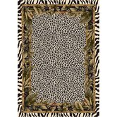 Signature Jungle Safari Snow Leopard Rug