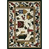 Spring Seasonal Feathered Friends Novelty Rug