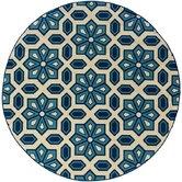 Caspian Ivory/Blue Indoor/Outdoor Rug
