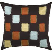 "T-2008A 18"" Decorative Pillow in Chocolate"