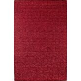 Uptown Red Solid Rug