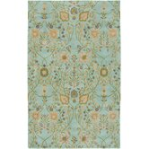 Century Light Blue Floral Rug