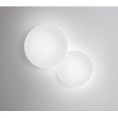 Puck Wall Sconce in White Lacquered