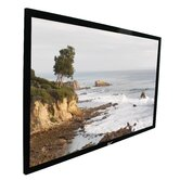 ezFrame Fixed Frame AT 84&quot; Projection Screen  in Black Velvet