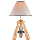 Baseball Bat   Table Lamp in Natural Wood