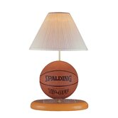 Basketball  Table Lamp in Natural Wood