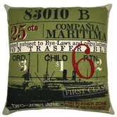 Ticket Pillow in Olive