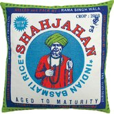 "Rice 20"" x 20"" Pillow with Shajahan Print"