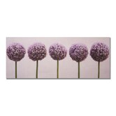 "Row of Alliums Printed Canvas Art - 16"" X 40"""