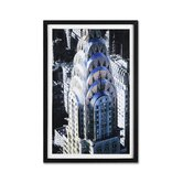 "Chrysler Building Framed Print Art - 24"" X 16"""