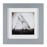 "Sailing Ships  Framed Print Art - 16"" X 16"" (Set of 2)"