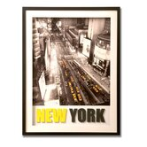 "New York 3 - D Framed  Print Canvas Art - 32"" X 24"""