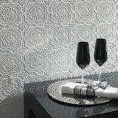 Paintable Damask Embossed Tiles Wallpaper