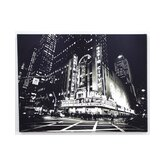 Metallic City Lights Canvas