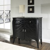 Black Tiger Accent Chest in Distressed Black