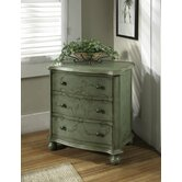 Artistic Expression Hand Painted 3 Drawer Accent Chest