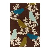 Tufted Pile Chocolate/Aqua Goldfinch Rug