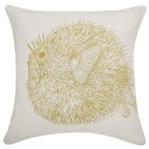 Sea Life Puffer fish Pillow in Corn