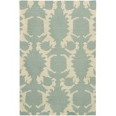Flat-weave Dhurrie Dove/Cream Flock Rug