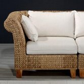 Rattan Seagrass Corner Sectional Chair