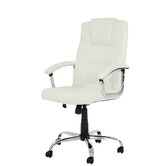 Houston Leather Executive Chair in Cream