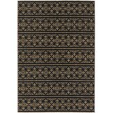 Dolce Gold/Black Casatta Rug