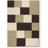 Super Indo - Natural Square Ridge/Chocolate Neutrals Rug