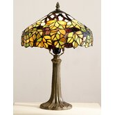 Maple Leaf Tiffany Table Lamp in Green