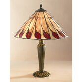 Leaf Table Lamp in Red