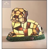 Tiffany Dog Table Lamp