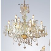 Vivaldi Nine Light Chandelier in Gold