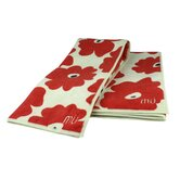 MUmodern Two Towels and One Cloth in Red Poppy