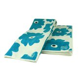 MUmodern 16&quot; x 24&quot; Towel in Blue Poppy (Set of 2)