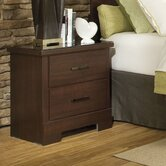 Marshall 2 Drawer Merlot Nightstand
